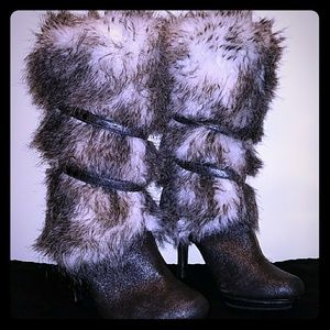 Isabel Toledo for Payless faux fur boots